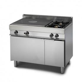 Cucina Tuttapiastra a GAS - 70x65x85h cm - 2 fuochi + forno a gas + armadio neutro