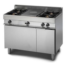 Cucina Tuttapiastra a GAS - 110x65x85h cm - 4 fuochi + minipiastra