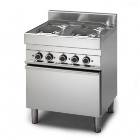 Cucina Elettrica - 70x65x85h cm - 4 Piastre su forno elettrico