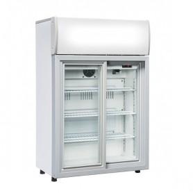 Refrigeratore Verticale Bibite - 85 Litri [+1 +10 C°] - Porte Scorrevoli e Pannello Superiore Illuminato