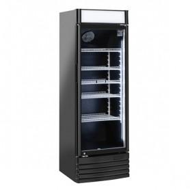 Refrigeratore Verticale Bibite - 300 Litri [+1 +10 C°] - Porta a Battente - Nera