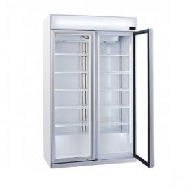 Refrigeratore Verticale Bibite - 1050 Litri [+1 +10 C°] - Doppia Porta a Battente e Pannello Superiore Illuminato