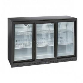 Banco Retro Bar - 320 Litri [+1 +10 C°] - Tripla Porta Scorrevole - Altezza 900 mm