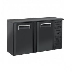 Banco Retro Bar - 315 Litri [+2 +8 C°] - Doppia Porta a Battente - Nero