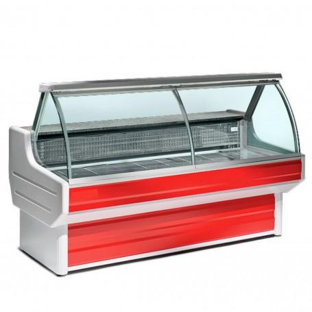 Espositore Refrigerato - Per Carne - Statico - Modello Dakota - Vetri Curvi - Lunghezza 4000 mm