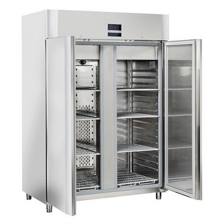 Armadio Refrigerato - Acciaio INOX - Doppia Porta - [-2 +8C°] - Classe A - Tropicalizzato