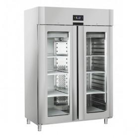 Armadio Refrigerato - Doppia Porta a Vetro - Acciaio INOX - [-22 -18C°] - 1105 Litri