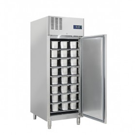 Armadio Refrigerato - Per Gelateria - Acciaio INOX - [-25 -18C°] - 800 Litri - 8 Griglie Incluse