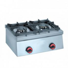 Fornello a Gas - da Banco - 2 Fuochi - 600x450x240h mm