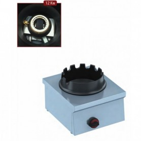 Fornello a Gas WOK - da Banco - 1 Fuoco - 400x450x240h mm