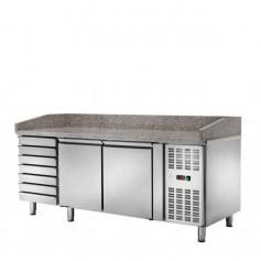 Banco Pizza Refrigerato - 2 Porte 7 Cassetti