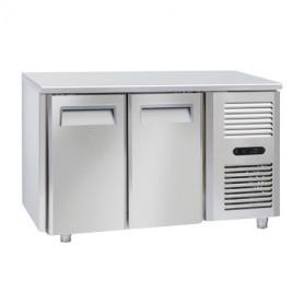 Tavolo Refrigerato in Acciaio INOX - 1380x700x850h mm - [0 +8C°] - Due Porte Tropicalizzato