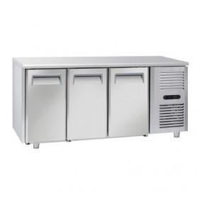 Tavolo Refrigerato in Acciaio INOX - 1815x700x850h mm - [-22 -18C°] - Tre Porte Tropicalizzato