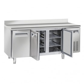 Tavolo Refrigerato in Acciaio INOX - REMOTO - 1815x700x950h mm - [-22 -18C°] - Tre Porte Tropicalizzato con Alzatina