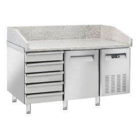 Banco Pizza Refrigerato - 1500x800x1040h mm - [+2 +8C°] - Una Porta + 5 Cassetti