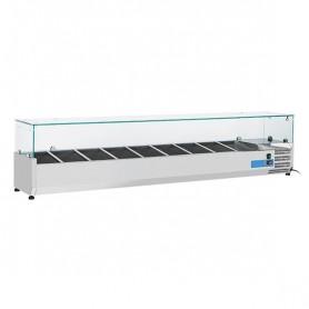 Vetrinetta Refrigerata - 2000x335x440h mm - [+2 +8C°] - 10xGN 1/4