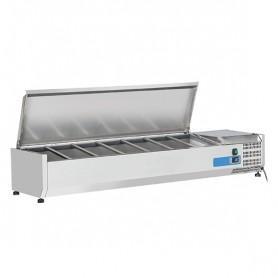Vetrinetta Refrigerata - 1500x335x281h mm - [+2 +8C°] - 7xGN 1/4