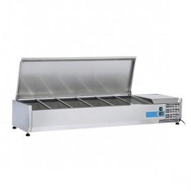 Vetrinetta Refrigerata - 1500x395x281h mm - [+2 +8C°] - 5xGN 1/3 + 1xGN1/2