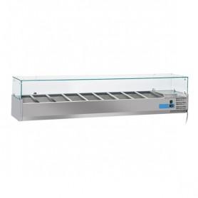 Vetrinetta Refrigerata - 2000x395x440h mm - [+2 +8C°] - 9xGN 1/3