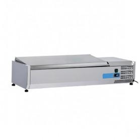 Vetrinetta Refrigerata - 1200x395x281h mm - [+2 +8C°] - 3xGN 1/3 + 1x GN 1/2