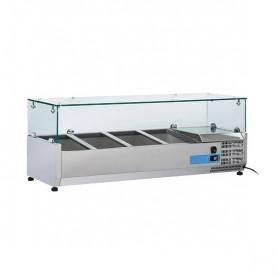Vetrinetta Refrigerata - 1200x395x440h mm - [+2 +8C°] - 3xGN 1/3 + 1x GN 1/2