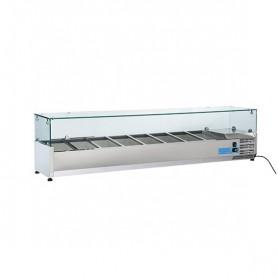 Vetrinetta Refrigerata - 1800x395x440h mm - [+2 +8C°] - 8xGN 1/3
