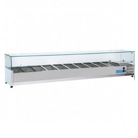 Vetrinetta Refrigerata - 2200x395x440h mm - [+2 +8C°] - 10xGN 1/3