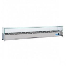 Vetrinetta Refrigerata - 2500x395x440h mm - [+2 +8C°] - 12xGN 1/3