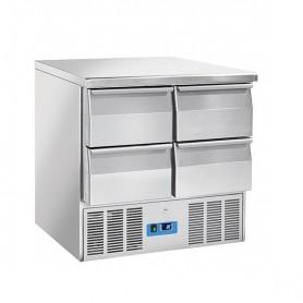 Saladette GN1/1 - 900x700x880h mm - [0 +8C°] - Quattro cassetti