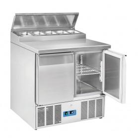 Saladette GN1/1 - 900x700x1005h mm - [0 +8C°] - Due Porte e Top Sandwic