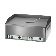 Frytop Elettrico - Doppio Liscio Cromato - 6 kW 400V