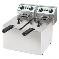 Friggitrice Elettrica - 4 + 4 Litri - 5 kW 230V