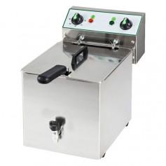 Friggitrice Elettrica - 10 Litri - 6 kW 230V - con Rubinetto