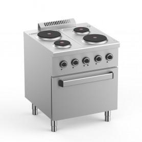 Cucina Elettrica - 4 Piastre su Forno Elettrico - 70x71,8x85 cm - 13,3 KW