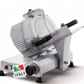 Affettatrice a Gravità - Affilatoio Fisso - Lama 250 mm - Taglio utile L x H mm 220×190