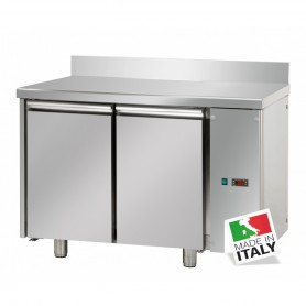 Tavolo Refrigerato - Motore Remoto - GN 1/1 - Due Porte [0 +10 C°] - Con Alzatina