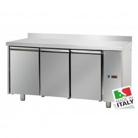 Tavolo Refrigerato - Motore Remoto - GN 1/1 - Tre Porte [0 +10 C°] - con Alzatina