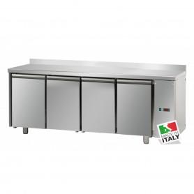 Tavolo Refrigerato - Motore Remoto - GN 1/1 - Quattro Porte [0 +10 C°] - con Alzatina
