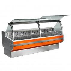 Espositore Refrigerato - Per Salumi e Latticini - Statico - Modello Cordoba - Lunghezza 2500 mm