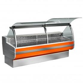 Espositore Refrigerato - Per Salumi e Latticini - Ventilato - Modello CA - Lunghezza 2500 mm