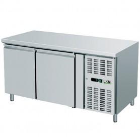 Tavolo Refrigerato Ventilato - 33x43 - Due Porte [-2 +8 C°]