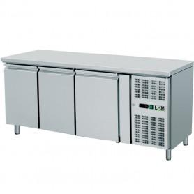 Tavolo Refrigerato Ventilato - 33x43 - Tre Porte [-2 +8 C°]
