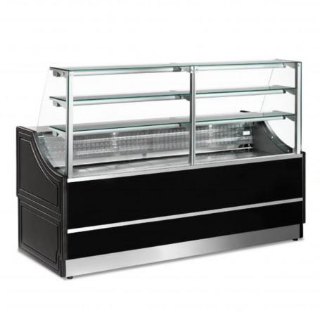 Espositore Refrigerato - Per Pasticceria - Statico Senza Cella - Modello Orleans - Lunghezza 2000 mm