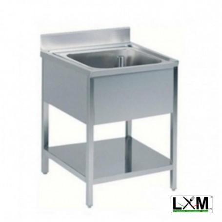 Lavatoio in acciaio inox ad 1 vasca prof. 60 cm