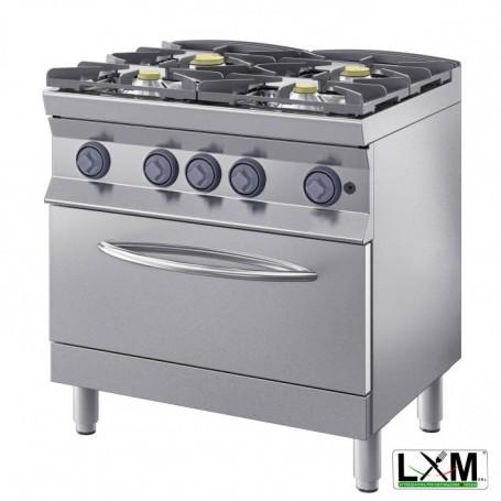 Cucina a fiamma libera - 4 Fuochi A GAS - Con Forno