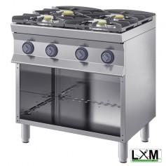 Cucina a fiamma libera - 4 Fuochi A GAS - A Giorno