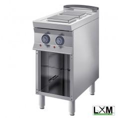 Cucina Professionale Elettrica - 2 Piastre 220X220 mm da 10,4 KW - A Giorno