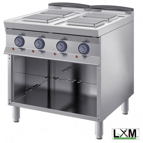 Cucina Professionale Elettrica - 4 Piastre 220X220 mm - 10,4 KW - A Giorno