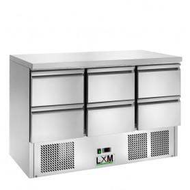 Saladette Refrigerata Statica - [+2 +8 C°] - 6 CASSETTI