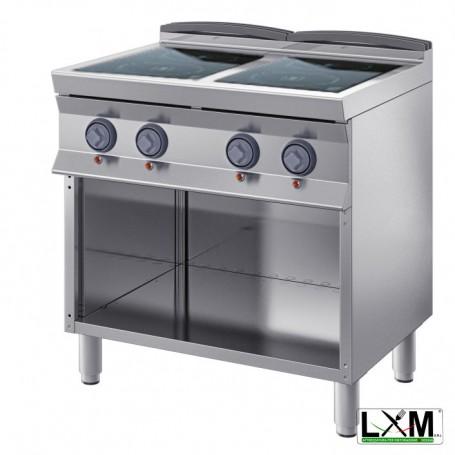 Cucina Professionale Elettrica - Vetroceramica 2 Piastre - 12 KW - A Giorno